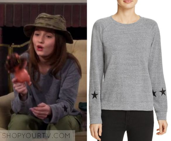 """Last Man Standing: Season 6 Episode 17 Eve's Grey Star Sweater 