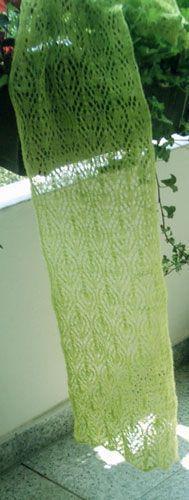 Magnolie ... und viele andere schöne Lace-Muster für Schals - die freien Anleitungen mit handgezeichneten Strick-Schemata (dt) auf