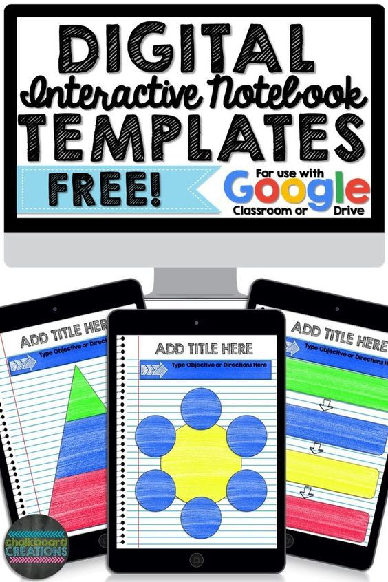 Free Digital Interactive Notebook Graphic Organizer Template