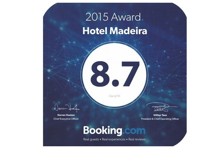 Hotel Madeira has confirmed again the superb service quality in 2015, on Booking.com #hotelmadeira #awards #funchal #madeira