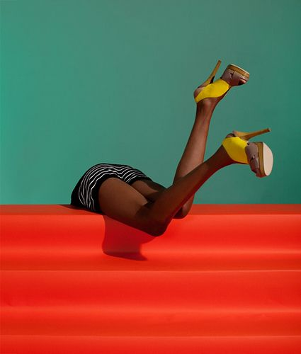 Beautiful Fashion Photography by Julia Galdo homage to Guy Bourdin?