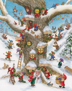 Elf Magic Advent Calendar | Large Fun & Whimsical | Vermont Christmas Co. VT Holiday Gift Shop