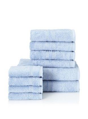 66% OFF Chortex 10-Piece Imperial Bath Towel Set, Bluebell