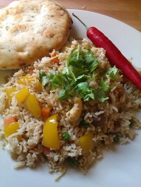インド料理:野菜が沢山のスパイシーピラフ