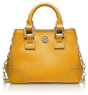 Tory Burch Robinson Shrunken Square Tote on shopstyle.com