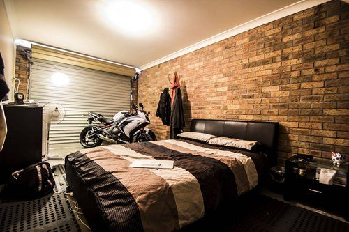 garage turned into a bedroom for the home pinterest