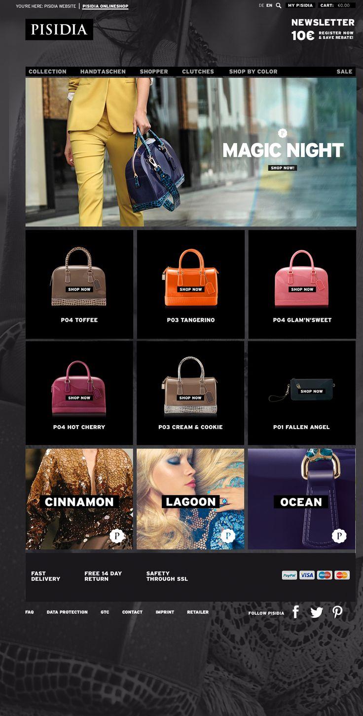 Pisidia Online-Shop designed by Rebernig Brand Design