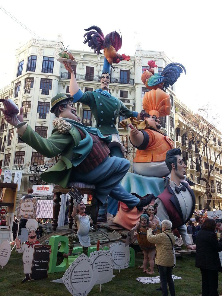 Falla Almirante Cadarso - Conde Altea  March 2015 Valencia - Spain