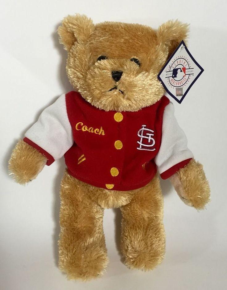 Saint Louis Cardinals Baseball Plush Teddy Bear Coach With Red Letterman Jacket  | eBay