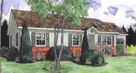 R137131-2 by Hallmark Homes Ranch Floorplan