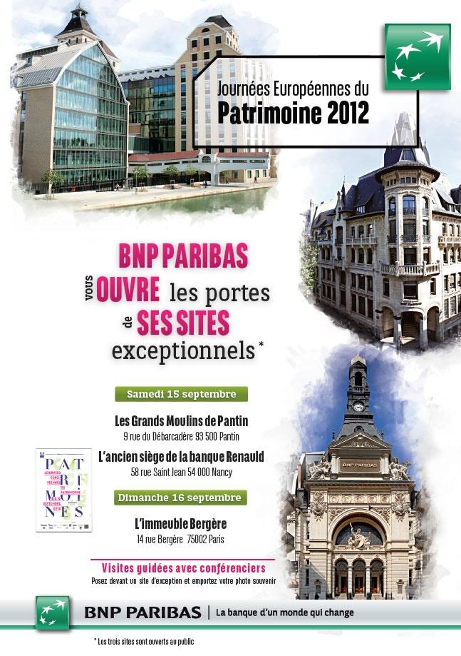 BNP Paribas ouvre les portes à ses sites exceptionnels pour les journées du Patrimoine 2012. En savoir plus : http://www.bnpparibas.com/actualites/bnp-paribas-vous-ouvre-portes-ses-sites-exceptionnels