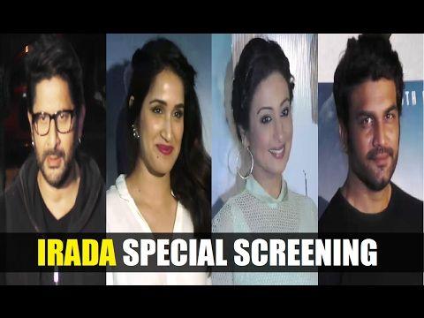 Bollywood celebs at special screening of Arshad Warsi's IRADA movie.