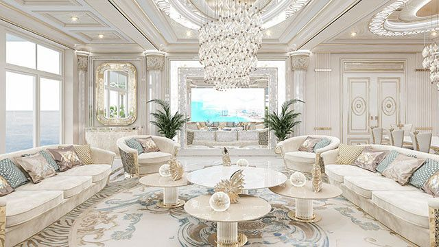 Admirable Living Room Design In Dubai By Luxury Antonovich Design Luxury Mansions Interior Luxury Living Room Design Luxury Interior Design Kitchen