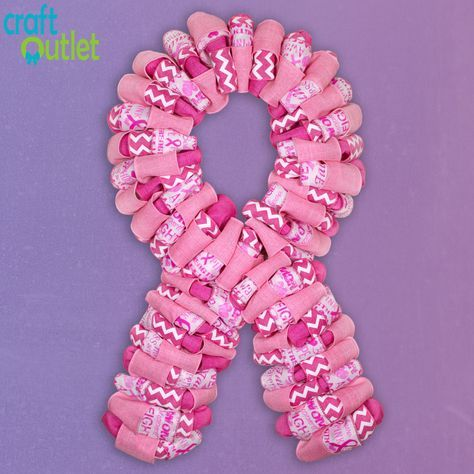 How to Make a Pink Ribbon Wreath | Craft Outlet Blog Tutorial