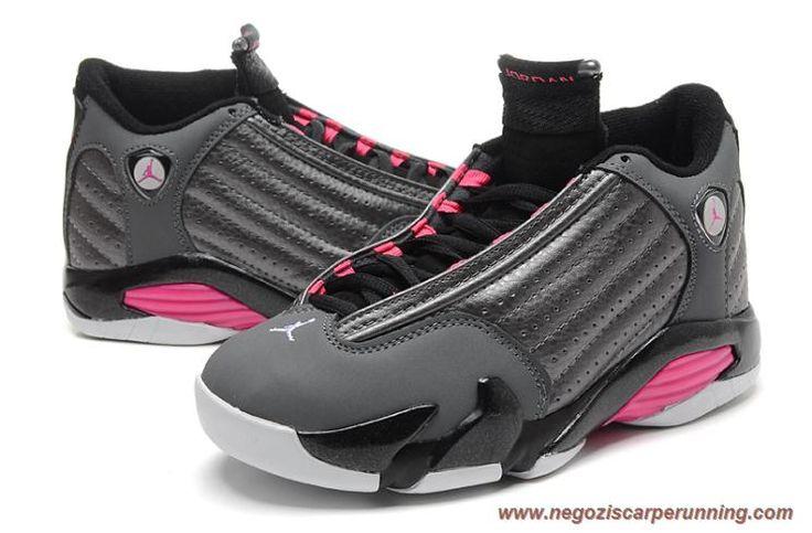 scarpe calcio bambino Donna Grigio/Rosa AIR JORDAN 14 RETRO