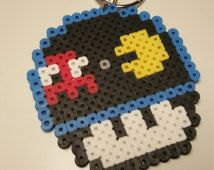 Pacman Mario Mushroom Perler Bead Keychain