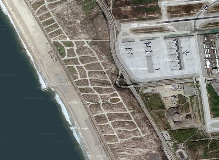 The property around LAX was once home to a thriving beach side community in the 1920's and 30's.