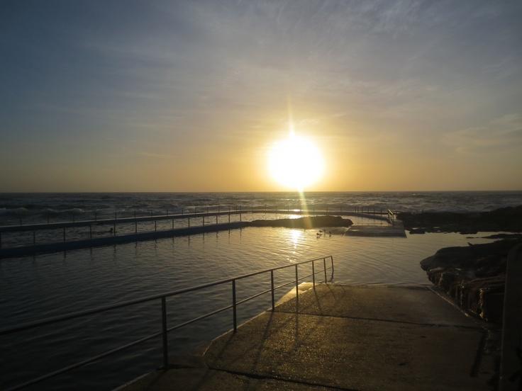 Sunrise on set for the #Zoggs #swimwear shoot.