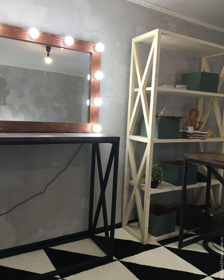 Купить Стол GAMBIT темная столешница - коричневый, стол, стол гримера, стол визажиста