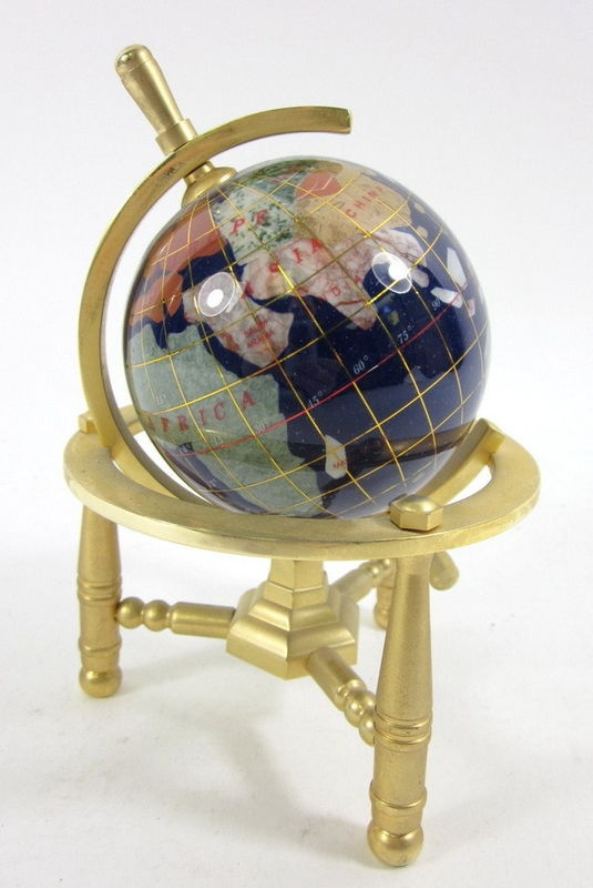 41 best gemstone world globes images on pinterest globes gems gemart polished gemstone gold tone stand small world globe gumiabroncs Image collections