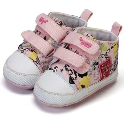 Minnies Pink Canvas Booties