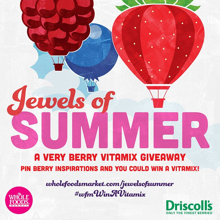 10 pinners will win a Vitamix blender! Enter to win at http://www.wholefoodsmarket.com/jewelsofsummer