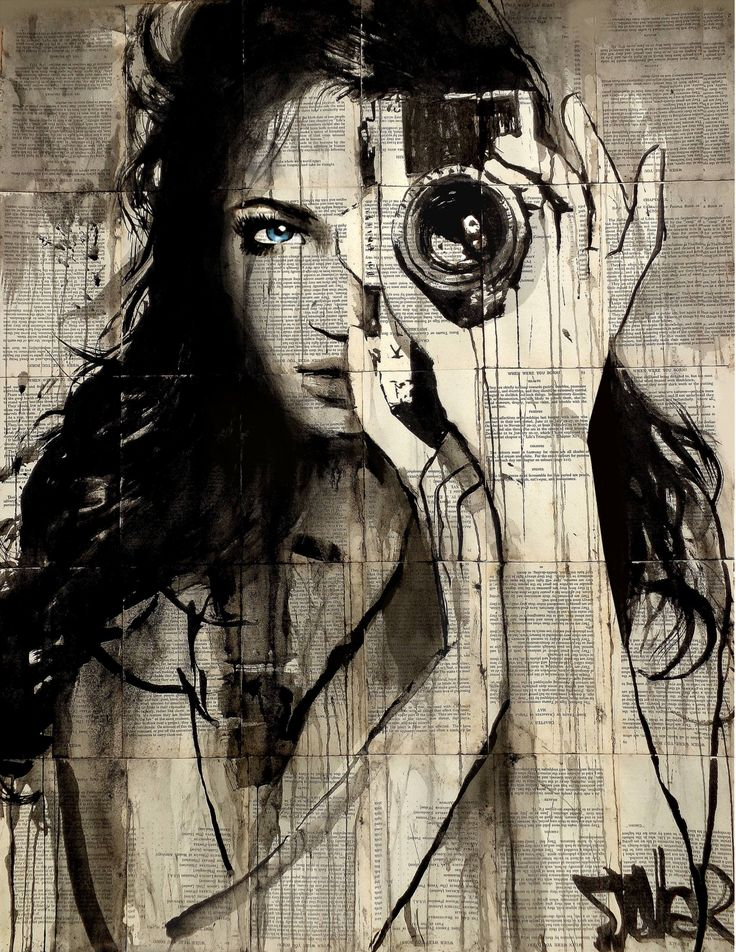 Buy Prints of long shot, a Ink on Paper by LOUI JOVER from Australia. It portrays: Women, relevant to: jover, vintage, camera, loui jover, contemporary, drawing, book pages inks on vintage book pages adhered together to make one sheet ready for framing as desired