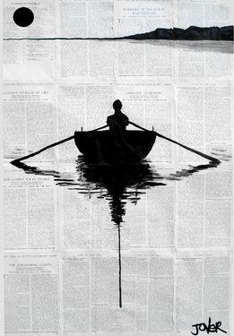 "Saatchi+Online+Artist+Loui+Jover;+Drawing,+""a+simple+plan""+#art"