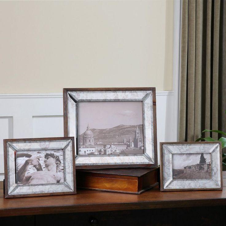 Uttermost Daria Antique Mirror Photo Frames - Set of 3 - 18567