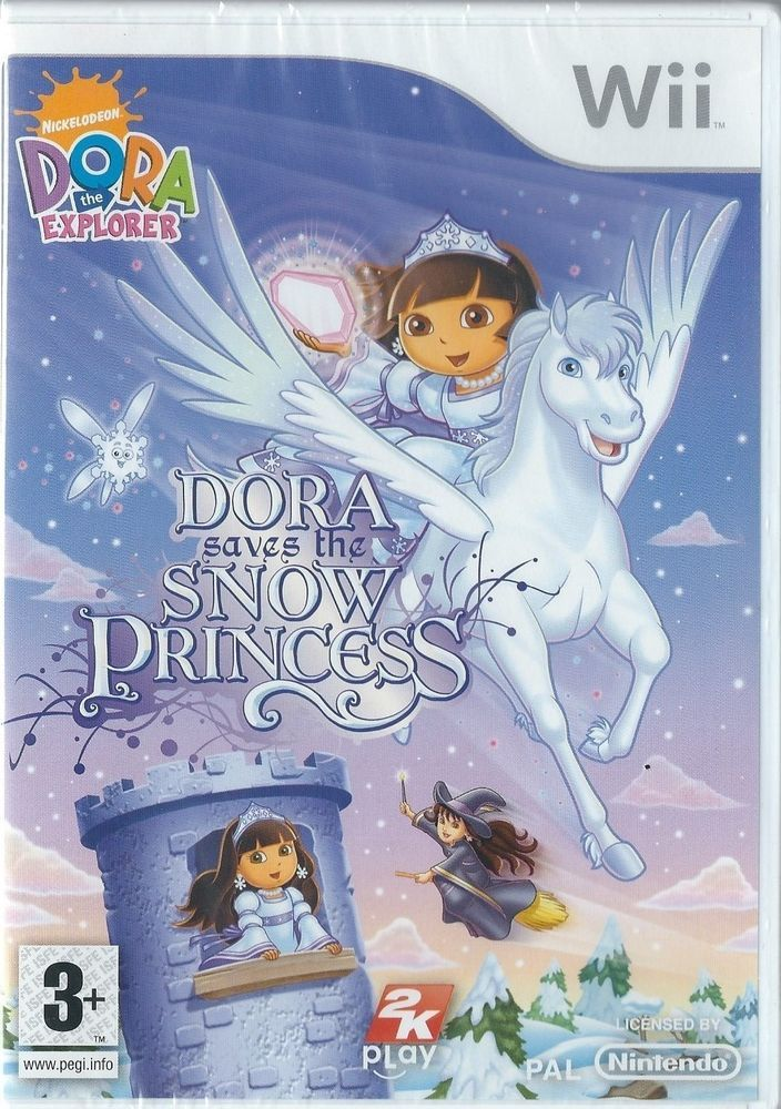 details about nintendo wii dora the explorer dora saves the snow princess brand new