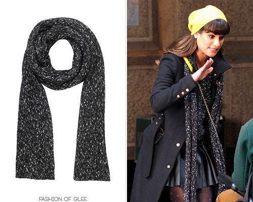 The Kooples Fantasy Tweed-Effect Scarf - No longer available Worn with: Club Monaco hat, Zara coat, The Kooples sweater, Diane Von Furstenberg bag, AllSaints skirt, DV by Dolce Vita boots Also worn in: 5x15 'Bash' with Barneys New York Co-Op boots