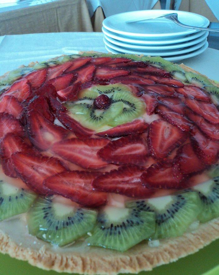 Some Dessert at hotel Ape Regina on the island of Ischia... la crostata di frutta :)