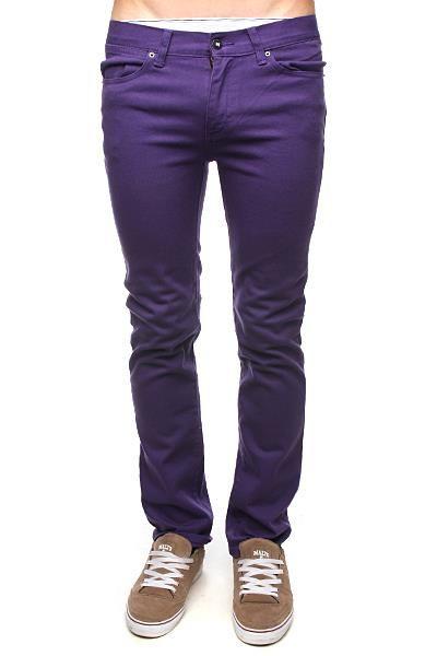 Фиолетовые джинсы зауженные женские размер 32