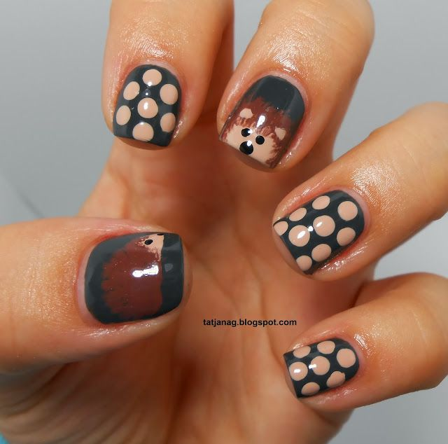 Fall Manicure: Hedgehog