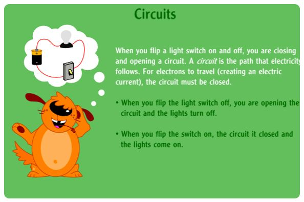 A NASA online simulation activity discussing series and parallel circuits, and when they are both open and closed.