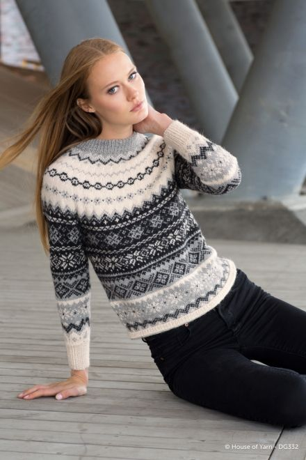 Strikkemekka.no - Dale - Steller Fair Isle Jumper 332-01