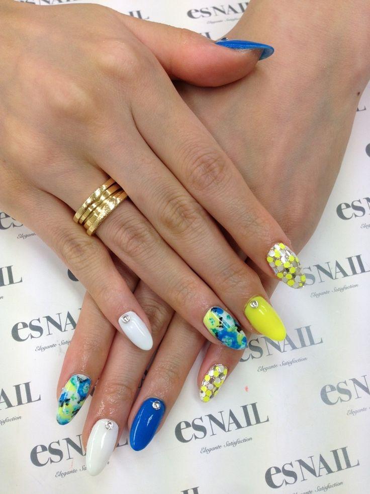 Nail Art - Nail Salon blog ~ AmebaGG daily es nail ... | images of tie-dyed flower nail ♪