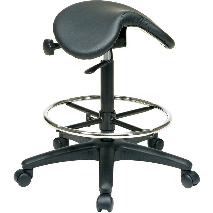 Sit Down On This Comfortable Saddle Seat Stool From Office Star And Enjoy  The Plush