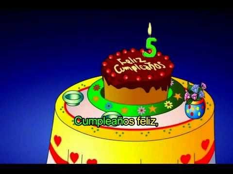Feliz Cumpleaños infantil para niños 2014 - cancion infantil feliz cumpleaños. - YouTube