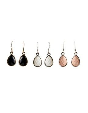 Faceted Drop Earrings Set   Woolworths.co.za