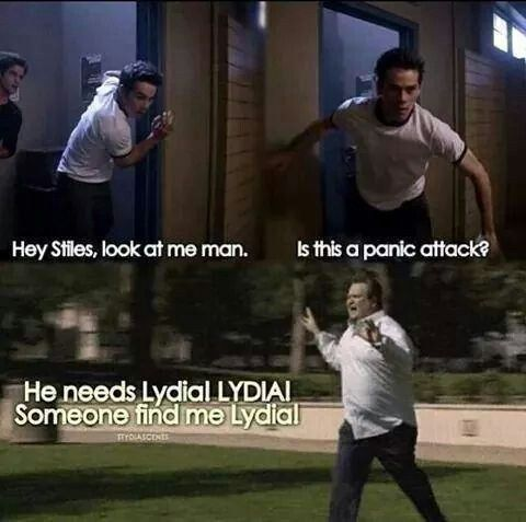 """This truth about one sure way to stop Stiles from having a panic attack: 