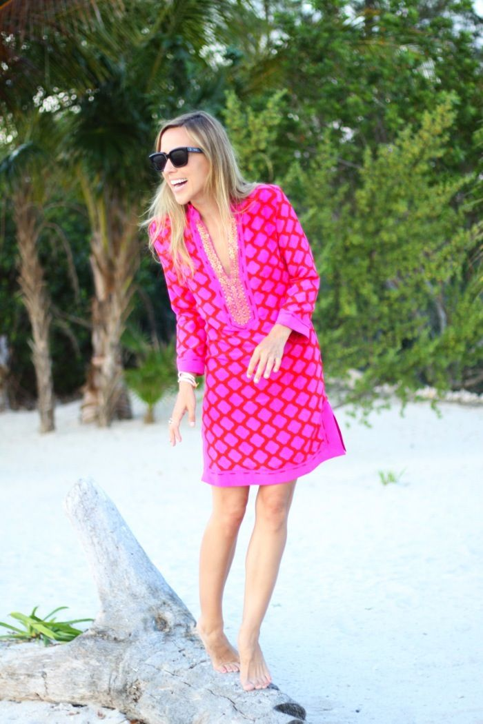 Jacey Duprie of Damsel in Dior wore her Sheridan French Gabby Dress on vacation in Mexico!
