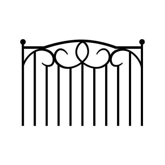 Wrought Iron Headboard Decal - As Seen In - Living