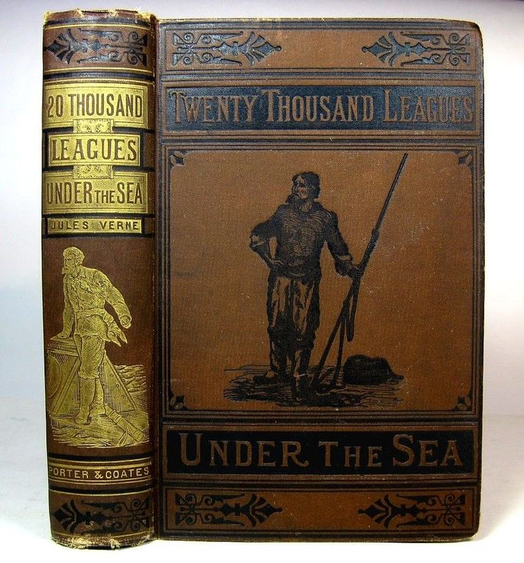 20,000 Leagues Under the Sea Jules Verne Rare 1880s Edition Maritime Steampunk