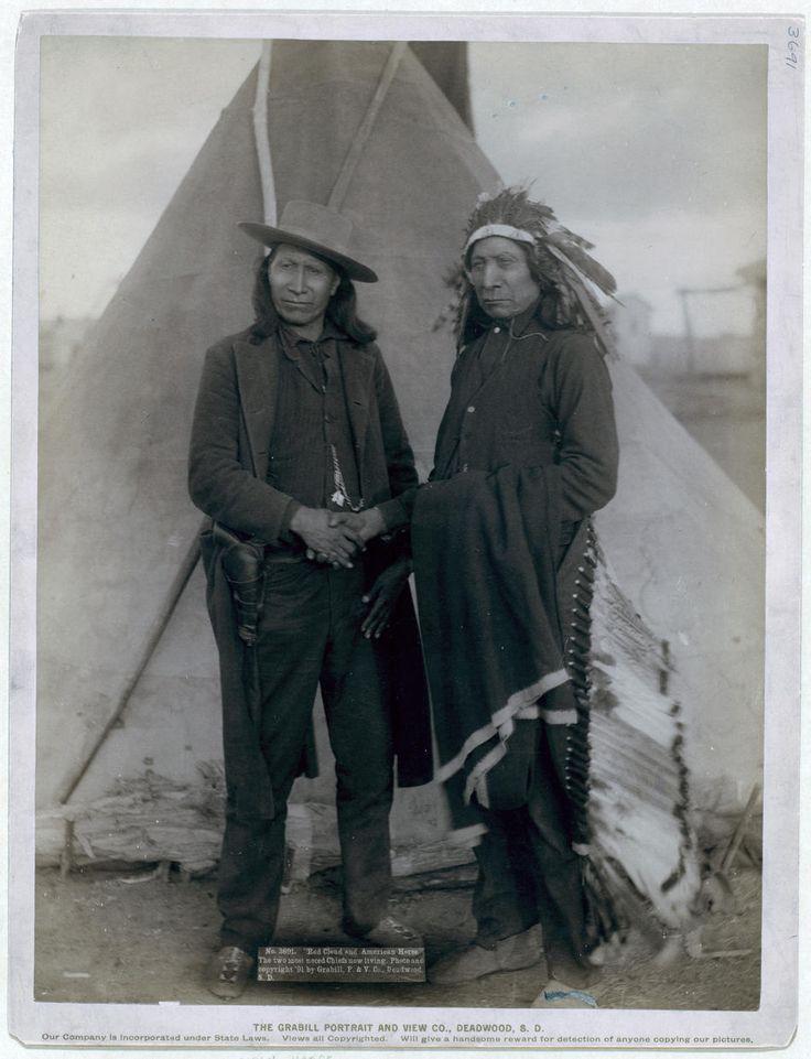 """Red Cloud and American Horse.""  1891, (John C.H. Grabill)"