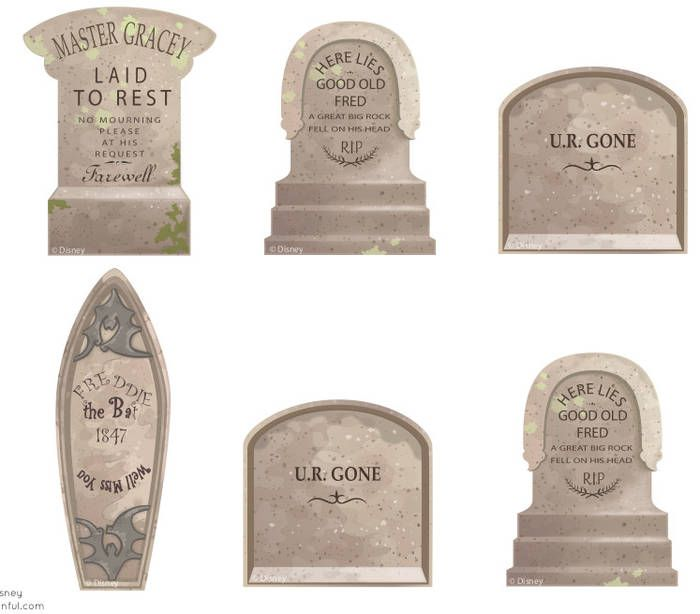 printable haunted mansion tombstone templates boing boing