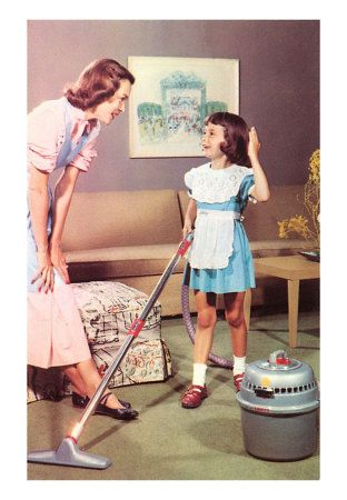 Mom...Thanks so much for teaching me to use the vacuum.  It want to grow up and be just like you!
