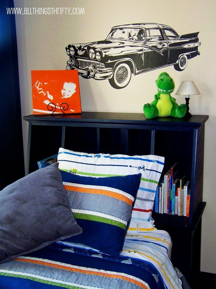 little boys bedroom orange   Little boy's room bedroom decor!