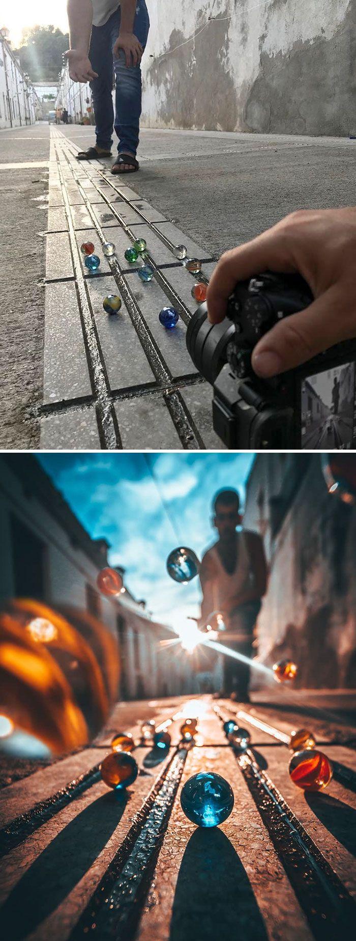 Fotógrafo usa truques criativos para tirar fotos incríveis