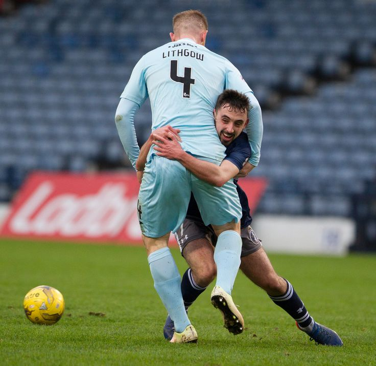 Queen's Park's Anton Brady in action during the Ladbrokes League One game between Queen's Park and Livingston.